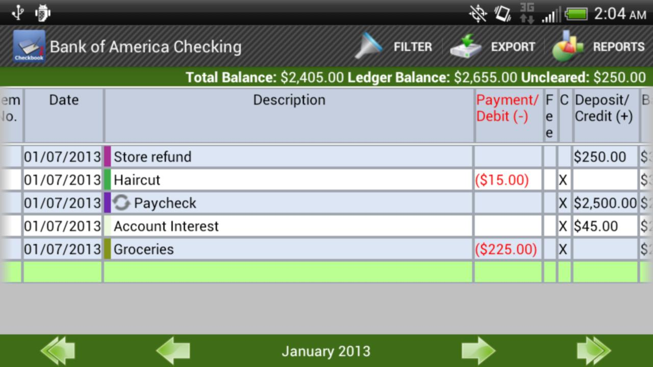 Checkbook Pro- screenshot