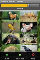 Screenshot of Animal sound ringtones free