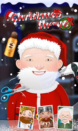 クリスマスシェーブ-サンタクロースのひげサロン