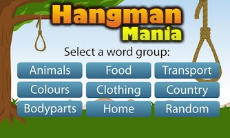 Screenshot of Hangman Mania