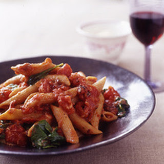 Whole Wheat Pasta Arrabbiata with Arugula