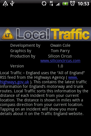 Local Traffic - England - screenshot