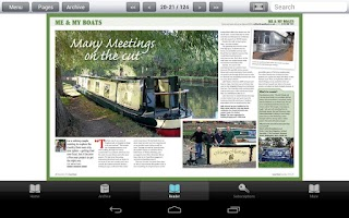 Screenshot of Canal Boat Magazine