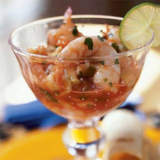Ceviche de Camaron (Shrimp Ceviche Cocktail).
