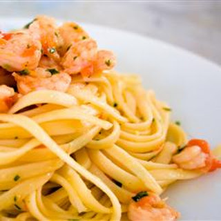 Brandied Shrimp with Pasta