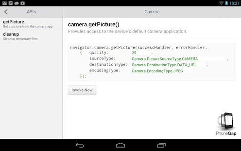 PhoneGap API Explorer - screenshot thumbnail