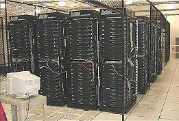 Google data center circa 2004