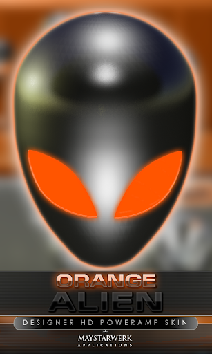 poweramp skin alien orange