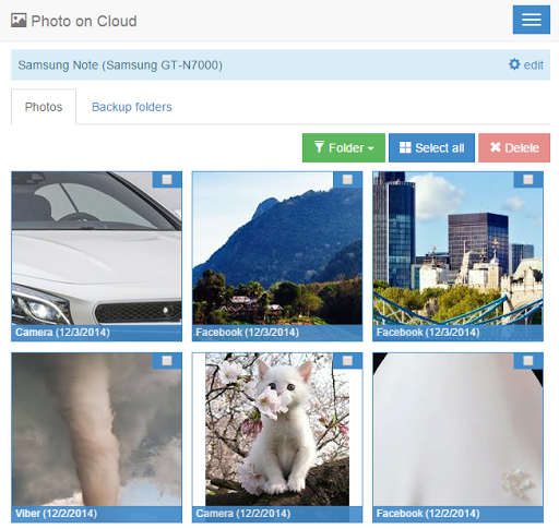 Photo on Cloud for Android