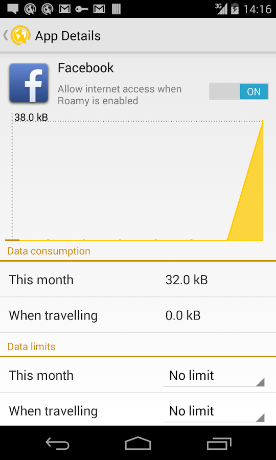 Roamy - Data Limiter- screenshot