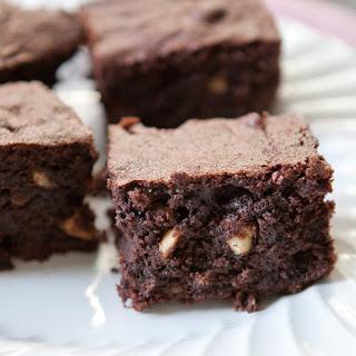 Fudgy Hazelnut Rye Brownies.