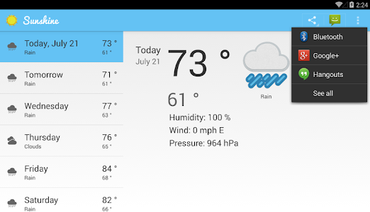 Sunshine – My first Android App :D !!! – Android Weather Apps