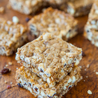 Browned Butter Oatmeal Raisinet White Chocolate Bars.