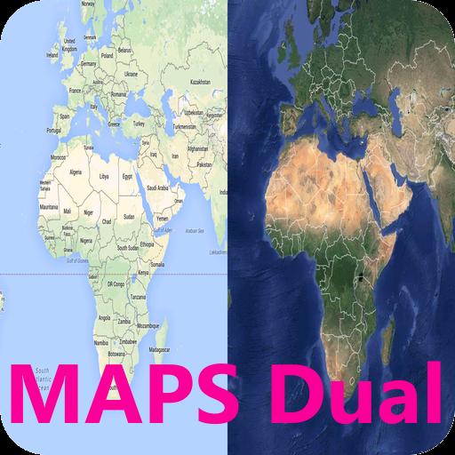 MAPS Dual 【简单的双屏幕地图】 交通運輸 App LOGO-APP試玩