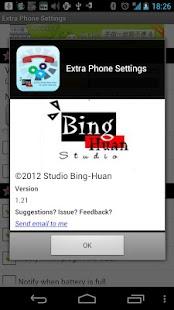 Extra Phone Settings- screenshot thumbnail