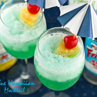Blue Hawaiian Mocktail.