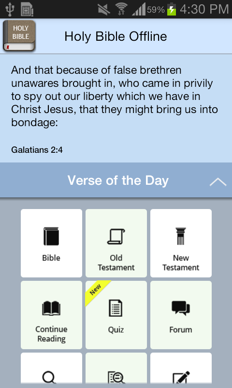 Holy Bible Offline- screenshot