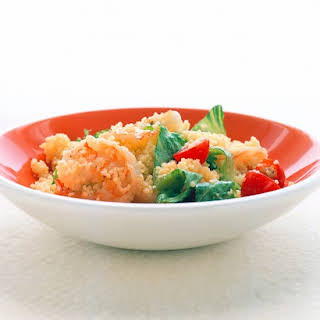 Couscous and Shrimp With Cumin Dressing.