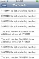 Screenshot of Taiwan Lucky Lotto 統一發票兌獎