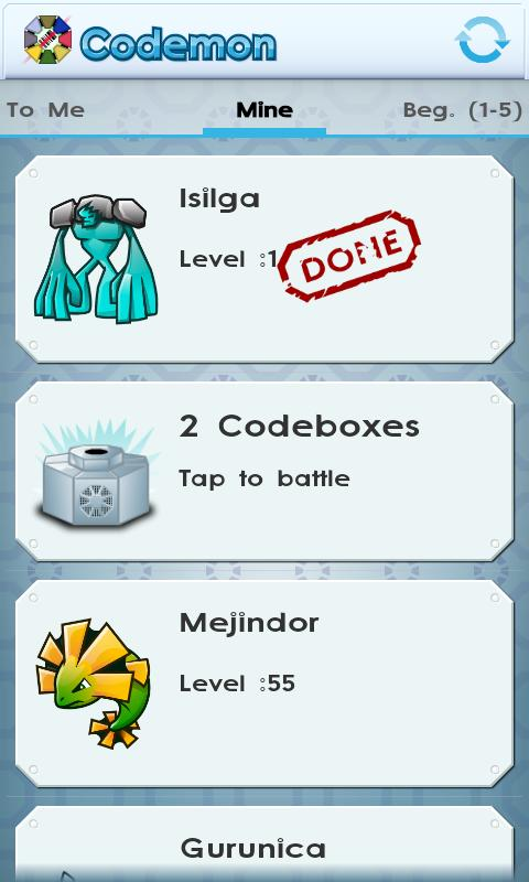 Codemon (Barcode Monsters)- screenshot