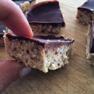Oaty Choc/Nutty slice.