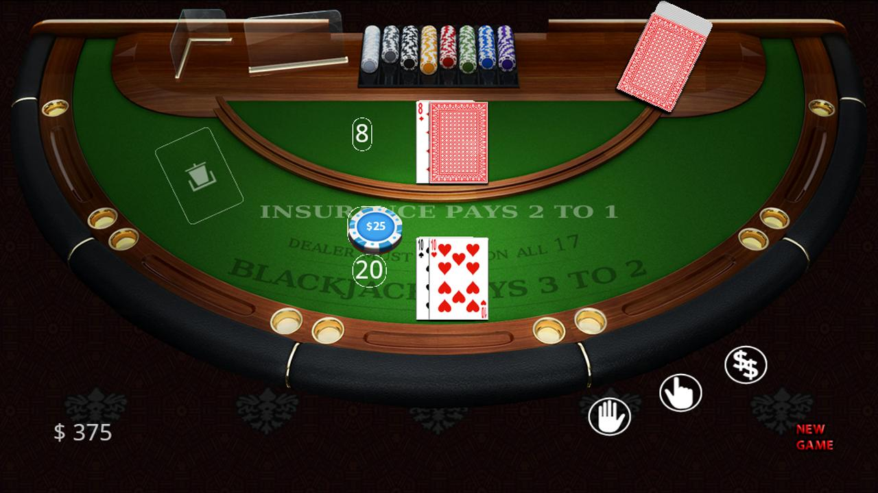 Blackjack table top view - Blackjack Vegas Casino Cards Screenshot