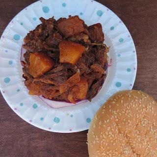 Pineapple Shredded Beef Burgers!
