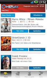 CINEPLEX Kinoprogramm - screenshot thumbnail