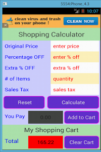 Shopping Calculator screenshot 5