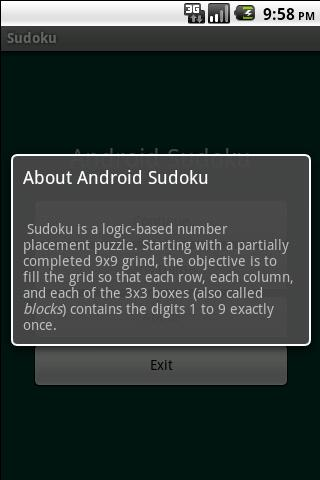 Andy's Sudoku- screenshot