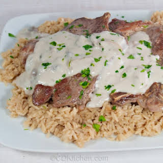 Slow Cooker Pork Chops And Rice.