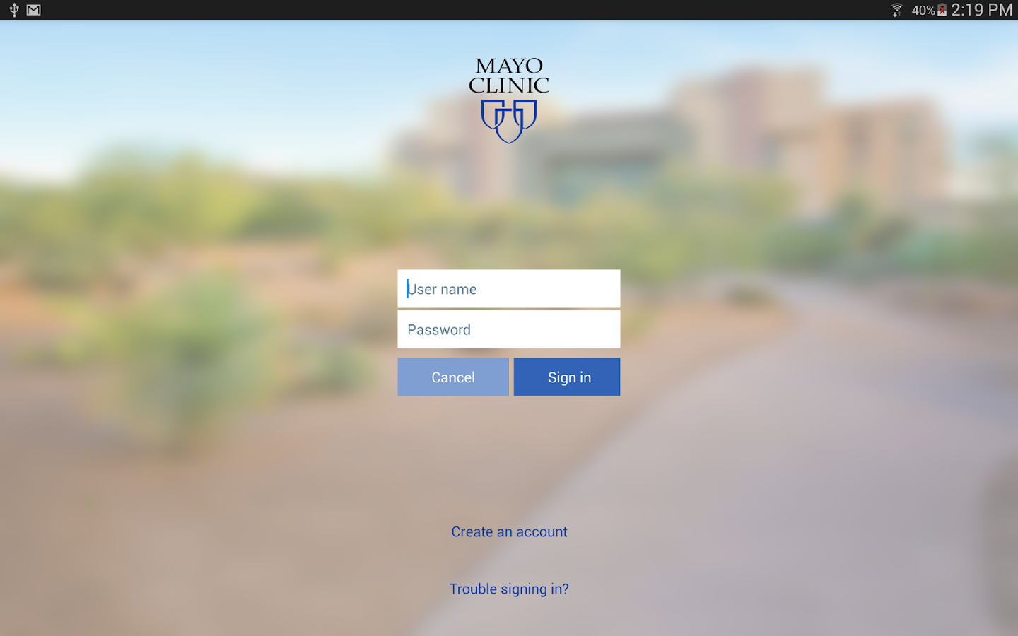 Mayo Clinic- screenshot