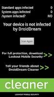 Screenshot of DroidDream Malware Cleaner