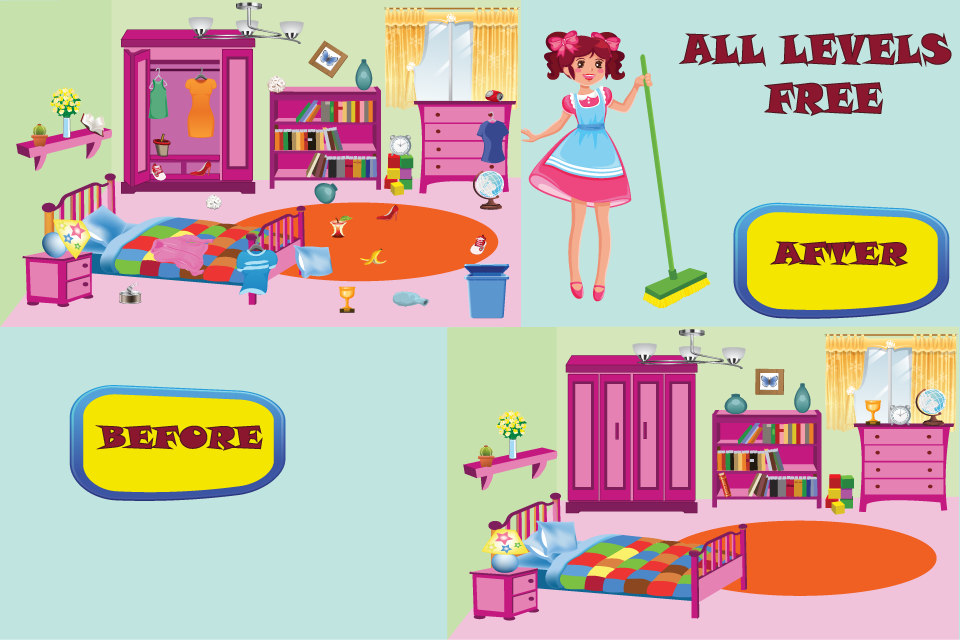 clean up my house - google play store revenue & download estimates