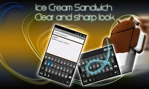 SlideIT IceCreamSandwich Skin - screenshot thumbnail