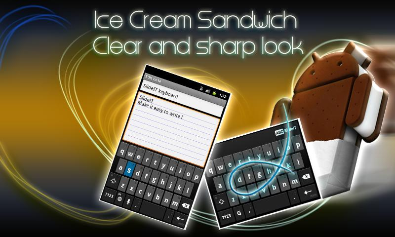 SlideIT IceCreamSandwich Skin- screenshot