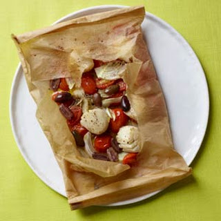 Scallops in Parchment with Fennel, Tomatoes, and Olives