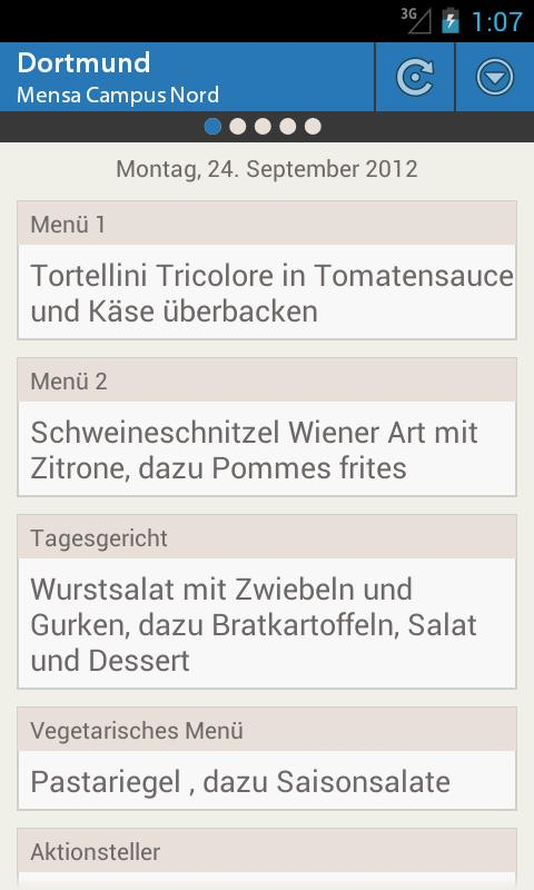 Mensa Dortmund - screenshot