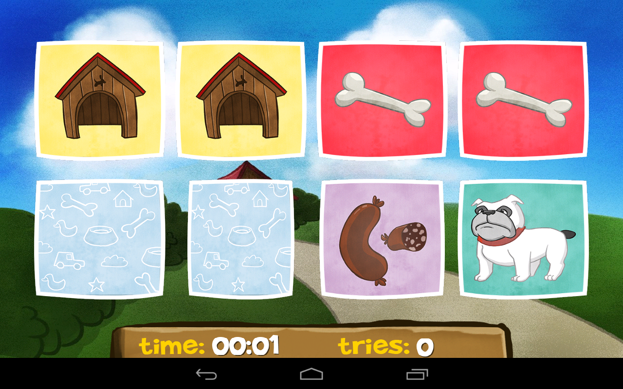 A Dog's Memory for Kids Free - screenshot