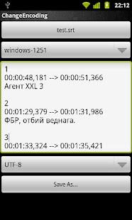 Change Encoding- screenshot thumbnail
