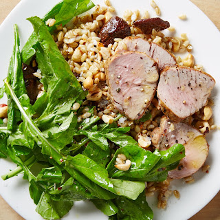 Barley and Arugula Salad with Pork and Mushrooms