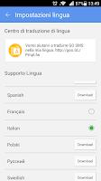Screenshot of GO SMS Pro Italian language pa