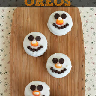 Snowman Oreo Cookies.