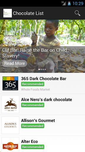 Chocolate List