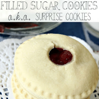 Filled Sugar Cookies {a.k.a. Surprise Cookies}