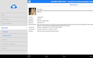 Screenshot of Moodle EduCloud Native App