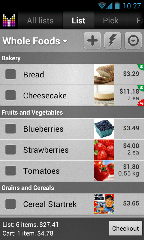 Mighty Shopping List Free - screenshot