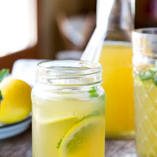 Iced Green Tea with Ginger, Mint and Honey.