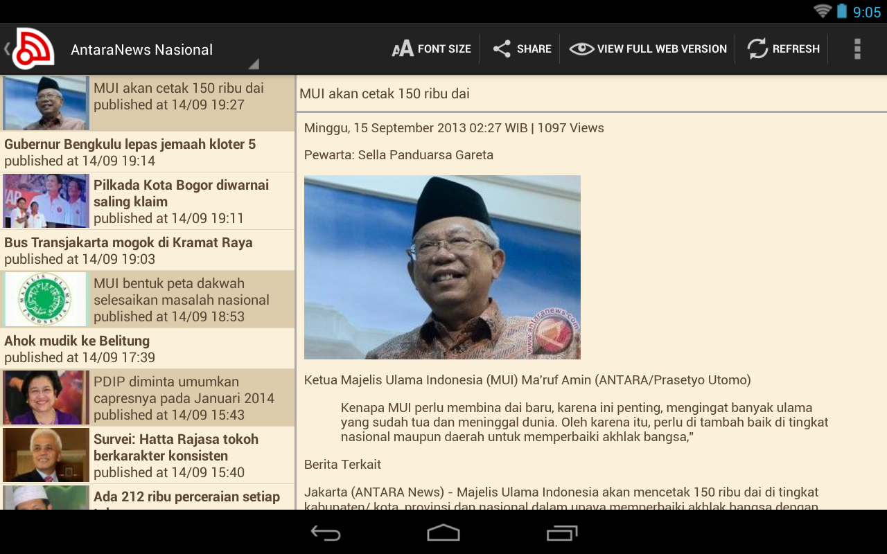 Indonesia Berita- screenshot