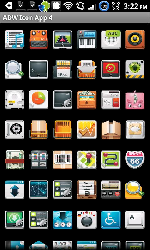Icon App 4 ADW/OH/DVR/CP- screenshot